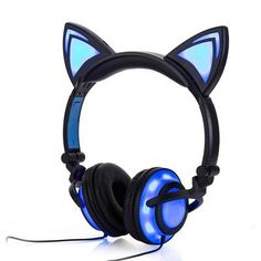Cat Ear Headphones With Glowing Lights