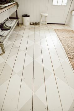 Mudroom Painted Floors