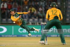 Faf du Plessis, Captain of South Africa gets the ball in to run out Millinda Siriwardena of Sri Lanka during the ICC World Twenty20 India 2016 Super 10s Group 1 match between South Africa and Sri Lanka at The Feroz Shah Kotla Cricket Ground on March 28, 2016 in Delhi, India.