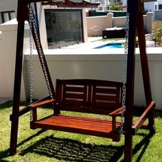 Porch Swing by GAS Creations. Delivered in time for Christmas! Porch Swing, Outdoor Furniture, Outdoor Decor, Christmas, Home Decor, Yule, Homemade Home Decor, Xmas, Christmas Movies
