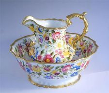 GORGEOUS HAMMERSLEY QUEEN ANNE CHINTZ JUG & WASH BASIN