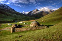 Tash Rabat caravanserai on the Silk Road, Kyrgyzstan