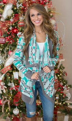Stay In Mint Cardigan CLEARANCE - The Pink Lily Boutique