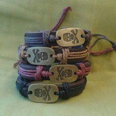 Wrist bands each 2 for Dan, Jewellery, Cool Stuff, Bracelets, Leather, Jewels, Schmuck, Bracelet, Jewelry Shop
