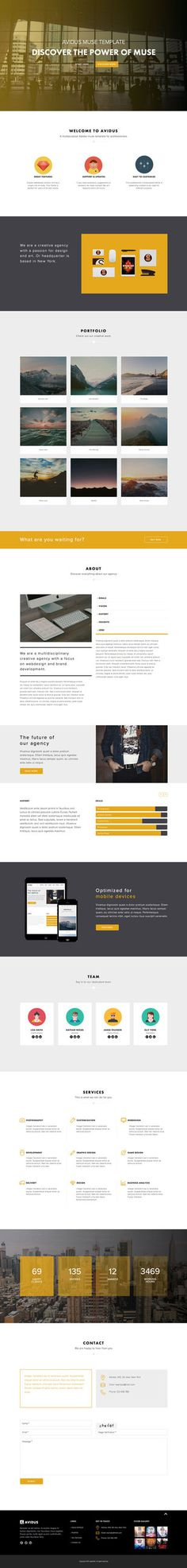 One Page Muse Template Landing Templates Adobe Website