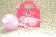 Fairy Tote & Fairy Wand Gift Set - Fairy Princess Gift Bag and Wand
