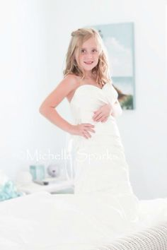 Flower girl or daughter in brides dress