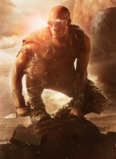 Vin Diesel as Riddick from Riddick trilogy (Pitch Black, The Chronicles of Riddick, Riddick)