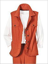 Comfort Knit Denim Vest