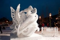 Breckenride snow sculptures, every January