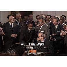 #AllTheWay @BryanCranston président, ça ne se rate pas ! Retrouvez l'incroyable héros de Breaking Bad dans un téléfilm HBO inédit produit par Steven Spielberg sur la figure de Lyndon Johnson, qui se retrouve malgré lui à la tête des États-Unis après l'ass