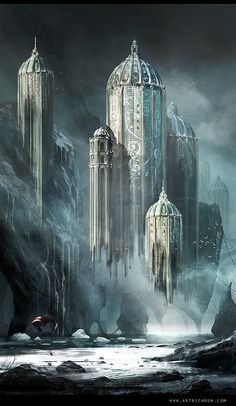 I like the design concept for Levana's Palace with the white and then blue tribal-esk designs to it... creepy but beautiful