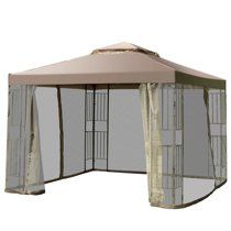 Costway Outdoor 10 X10 Gazebo Canopy Shelter Awning Tent Patio Screw Free Structure Garden Walmart Com In 2020 Canopy Tent Gazebo Canopy Awning Gazebo