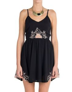 Lush Clothing - Floral Embroidered Dress | 2020AVE