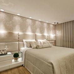 Quarto do casal!! ☑️ #decor #design #designdeinteriores #detalhes #decoração #interiores #iluminação #cabeceira #instadecor #ambientes #quarto #quartodocasal #tendência