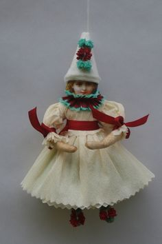 red and green spun cotton girl