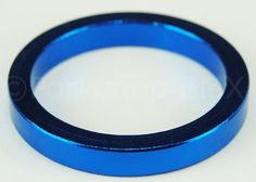 """BMX Headset spacer 1 1/8"""""""" Threadless 5mm thick - BLUE ANODIZED"""