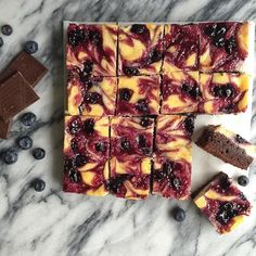 Blueberry Cheesecake Brownies