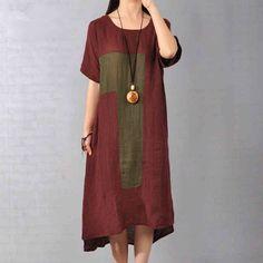 Женщины Хлопок белье Сыпучие облегающее платье