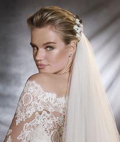 ORSA - Vestido de novia en gasa, tul y encaje   Pronovias