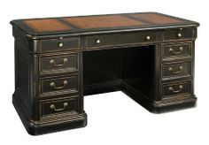 """60"""" Junior Executive Wood Desk by Hekman Furniture by Hekman Furniture.  Select solids and veneers. Two file drawers. Four box drawers. Leather top with blind tooling. 60"""" Junior Executive Wood DeskbyHekman  Overall: 60 in W x 30 in D x 31 in H ,Find this at Carter's Furniture Midland, Texas 432-682-2843 http://www.cartersfurnituremidland.com/"""