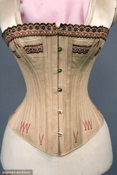 Tasha Tudor Collection: cotton boned and corded corset, 1875-90s