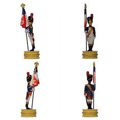 """Abanderado del 1er regimiento de los Granaderos a pie de la Guardia (de la colección """"Napoleón Ajedrez : la batalla de Jena"""" de Altaya)"""