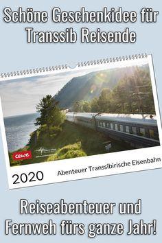 Der Transsibirische Eisenbahn Kalender 2020 ist eine schöne Geschenkidee für Transsib Reisende und auch für Eisenbahnfans. Egal, ob als Geburtstagsgeschenk oder Weihnachtsgeschenk, der Transsibirische Eisenbahn Wandkalender sorgt das ganze Jahr für Reiseabenteuer und Fernweh. #geschenk #wandkalender #transsibirien #kalender Desktop Screenshot, Bucket, Trans Siberian Railway, Wall Calendars, Travel Report, Travel Inspiration, Explore, Buckets, Aquarius