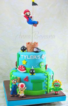 Children's Birthday Cake - Super Mario Bros