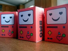 DIY BMO from adventure time cutout valentines! Adventure time