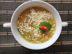 Sopa de grão de bico com quinoa