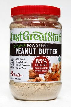 Peanut butter powder. I love this. 45 calories, 1.5g fat, complete with protein and fiber. Certified organic. Tastes great! New favorite!