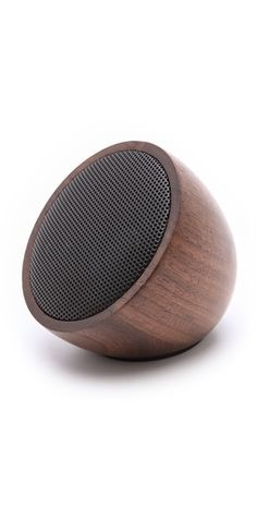 Walnut bluetooth speaker. Bluetooth has become far more useful and ubiquitous than predicted.