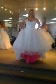 DIY Hot Pink Crinoline :  wedding crinoline diy pink Photo