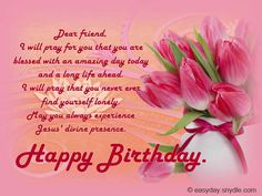 Happy birthday wishes for best friend happy birthday to a christian birthday wishes easyday m4hsunfo