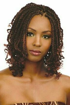 Embrace your afro-textured hair and take better care of it too with these protective kinky twists hairstyles for all lengths, cuts, and color tehcniques! Twist Braid Hairstyles, Braided Hairstyles For Black Women, African Braids Hairstyles, Braids For Black Hair, My Hairstyle, Twist Braids, Black Hairstyles, Hairstyles 2016, Fancy Hairstyles