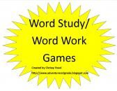 Word Study Games product from Everyday-Adventures on TeachersNotebook.com