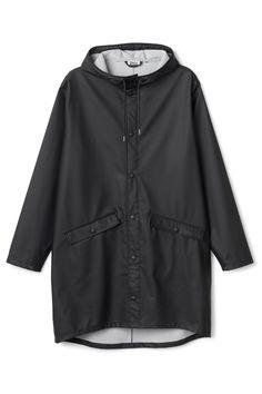 Weekday Sune Raincoat in Black