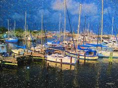 Colorful Boat Harbor Sailboats Shrimp Boats by Rebecca Korpita - Colorful Boat Harbor Sailboats Shrimp Boats Photograph - Colorful Boat Harbor Sailboats Shrimp Boats Fine Art Prints and Posters for Sale