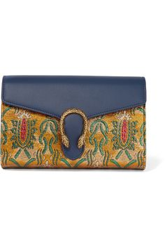 GUCCI - Dionysus metallic brocade and leather shoulder bag