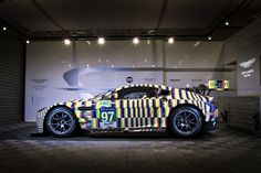 Aston Martin Racing is today unveiling a 24 Hours of Le Mans art car designed by artist Tobias Rehberger. The unique creation gives the Vantage GTE the illusion of movement and speed, even when … Car Colors, Colours, Tobias Rehberger, Motorsport Magazine, Le Mans 24, Stars News, Automobile Companies, Aston Martin Vantage, Star Wars