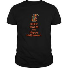 keep calm and happy halloween T-Shirts, Hoodies. BUY IT NOW ==► https://www.sunfrog.com/Holidays/keep-calm-and-happy-halloween-93800675-Black-Guys.html?id=41382