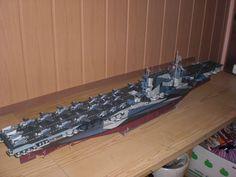 093 World War II USS Saratoga CV-3 Aircraft Carrier Paper Model PDF Format