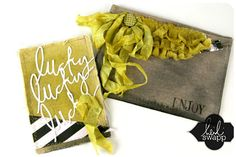 I love this canvas envelope by canvas corp.  Heidi Swapp design...