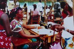 Atelier de couture au Libéria
