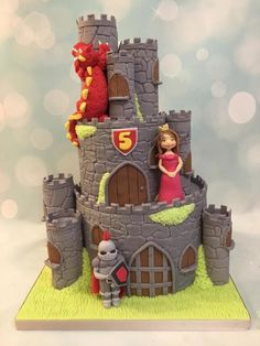 Castle Knight Dragon & Princess by Shereen