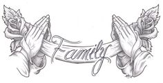 Bless my Family I by madtattooz on DeviantArt - Bless my Family I by madtattooz on DeviantArt You are in the right place about Bless my Family I by - Gangsta Tattoos, Dope Tattoos, Tattoo Design Drawings, Tattoo Sleeve Designs, Tattoo Designs Men, Cross Tattoo Designs, Angel Tattoo Designs, Chicano Style Tattoo, Chicano Art