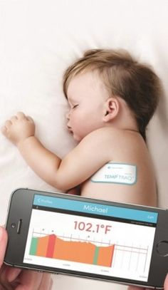 TempTraq: wearable thermometer w/iOS app #wearables
