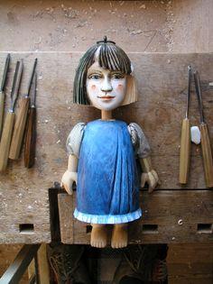 "Wooden Doll - ""Modra panenka"""