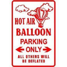 hot air balloon parking